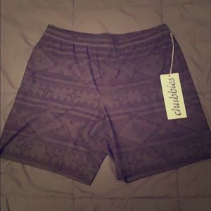 """Chubbies The Quests 7"""" with compression, L, NWT"""